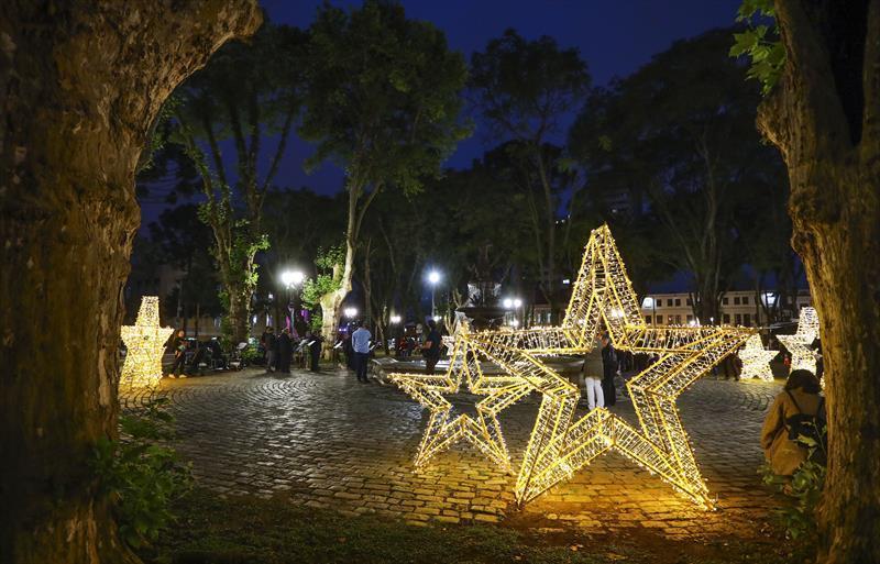 Decoração de Natal na Praça Eufrásio Correia - Natal 2019